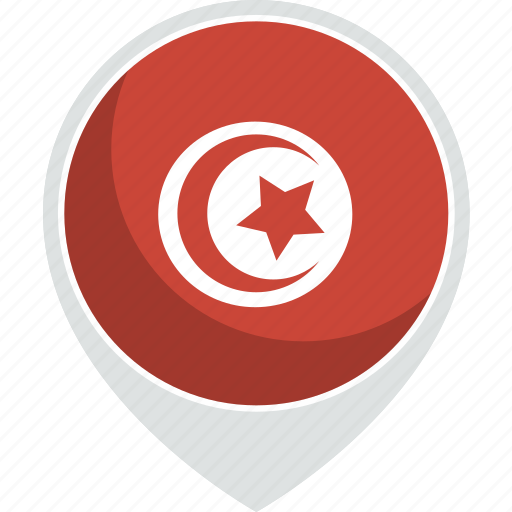 country, flag, nation, tunisia icon