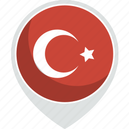 country, flag, nation, turkey icon