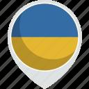 country, flag, pin, ukraine, world