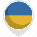 country, flag, nation, ukraine icon