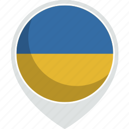 country, flag, nation, ukraine icon
