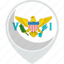 country, flag, islands, nation, states, united, virgin icon
