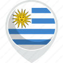 country, flag, nation, uruguay