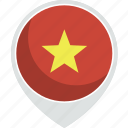 country, flag, nation, vietnam icon