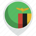 country, flag, nation, zambia icon