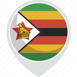 country, flag, nation, zimbabwe icon