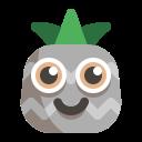big, emoji, pineapple icon