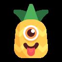 emoji, pineapple, teasing icon