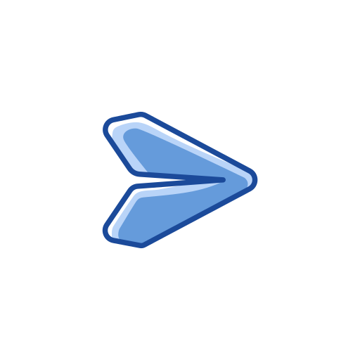 arrow, arrow head, plane, send icon