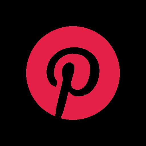 letter, logo, pinterest logo, social media icon