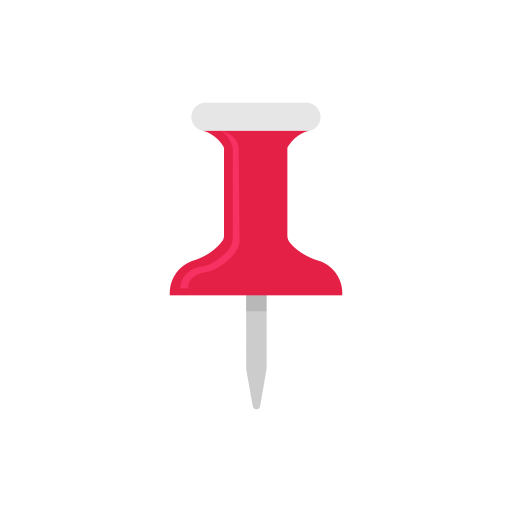 office supply, pin, pin it, tack icon