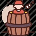 barrel, piracy, robbery, skull icon