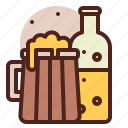 beer, piracy, robbery, skull icon