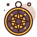 compass, piracy, robbery, skull icon