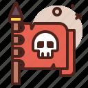 flag, piracy, robbery, skull icon