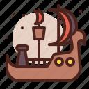 piracy, robbery, ship, skull icon