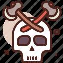 piracy, robbery, skull icon