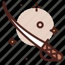 piracy, robbery, skull, sword icon