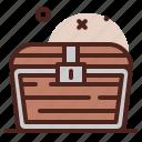 closed, piracy, robbery, skull, treasure icon