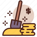 dig, piracy, robbery, skull, treasure icon