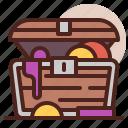 open, piracy, robbery, skull, treasure icon