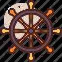 piracy, robbery, skull, wheel icon