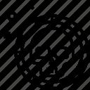piracy, robbery, shield, skull icon