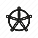navigate, pirate, travel, wheel icon