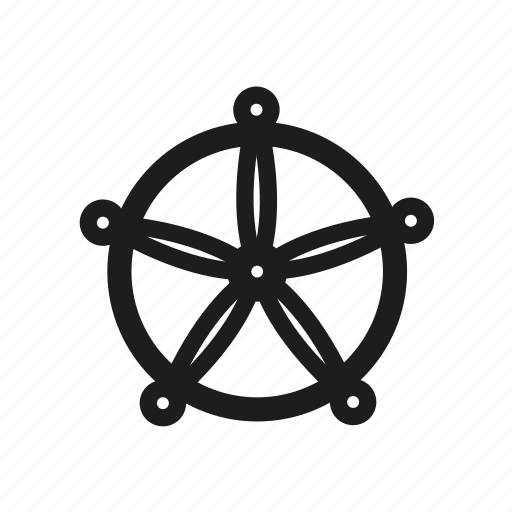 navigate, pirate, travel, wheel icon