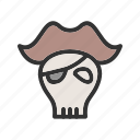 skull, danger, sign, flag, pirate, bone
