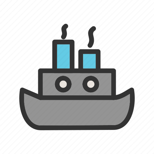 Travel, ocean, boat, ship, marine, transport, steamship icon