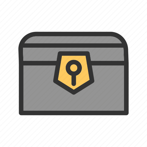 Box, chest, gold, jewelry, pirate, treasure, wood icon - Download on Iconfinder