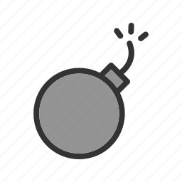 ball, cannon, cartoon, circus, exploding, fire, fun icon