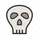 skull, danger, color, sign, flag, pirate, bone