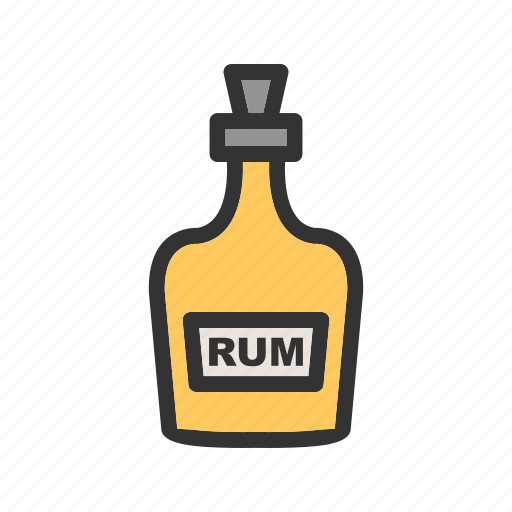Brown, alcohol, liquid, rum, whiskey, bottle, party icon
