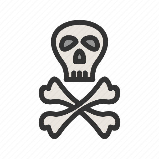 Crossbones, danger, pirate, sign, skeleton, skull, wheel icon - Download on Iconfinder