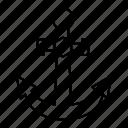 anchor, boat, sea, marine, ocean