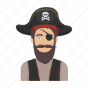 image, appearance, bandage, hat, pirate, filibuster icon
