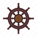 boat, handwheel, ship, wheel icon