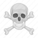bones, cross, dead, pirate, sign, skeleton, skull icon