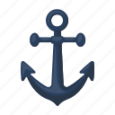 anchor, armature, equipment, marine, ship, stopper icon