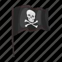 bones, cheerful, filibuster, flag, pirate, roger, skull icon