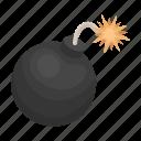 bomb, core, explosion, gun, projectile, wick icon