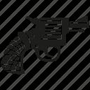 attack, firearm, handgun, pistol, revolver, shot, weapon