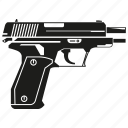 army, attack, firearm, handgun, pistol, shot, weapon icon