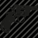 attack, firearm, handgun, pistol, revolver, shot, weapon icon