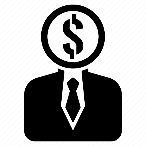 banker, businessman, capitalist, dollar, finance, investor, trader icon