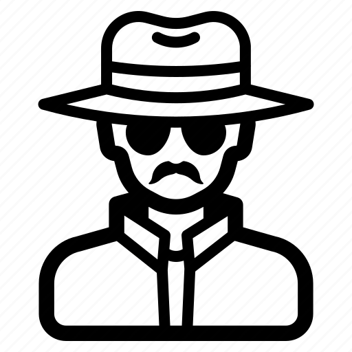 anonymous, detective, hacker, hat, inspector, investigator, undercover icon