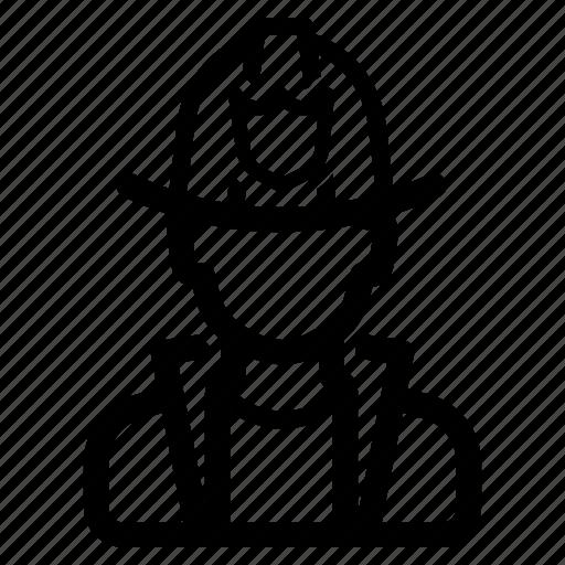 avatar, emergency, fighter, firefighter, fireman icon