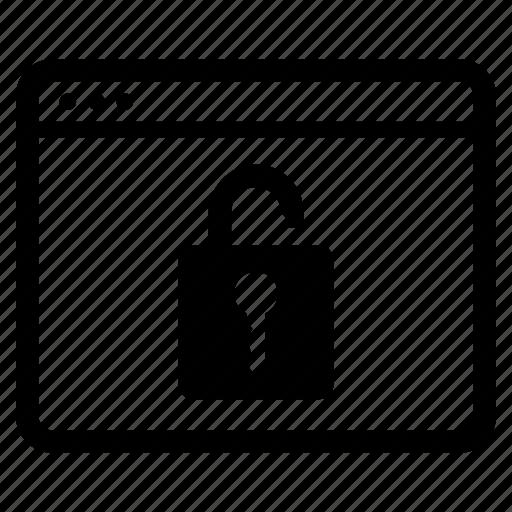 padlock, unencrypted, unlock, unlocked, unsafe, website icon